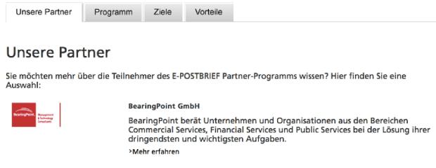 Unsere Partner BearingPoint