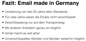 Fazit: Email made in Germany
