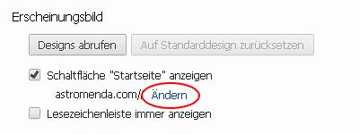 Google Chrome Erscheinungsbild