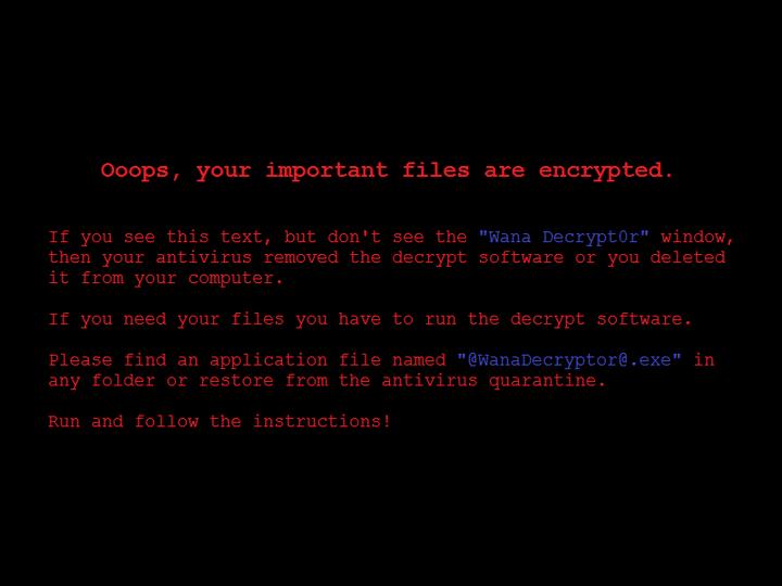 WannaCry-Virus Desktophintergrunds