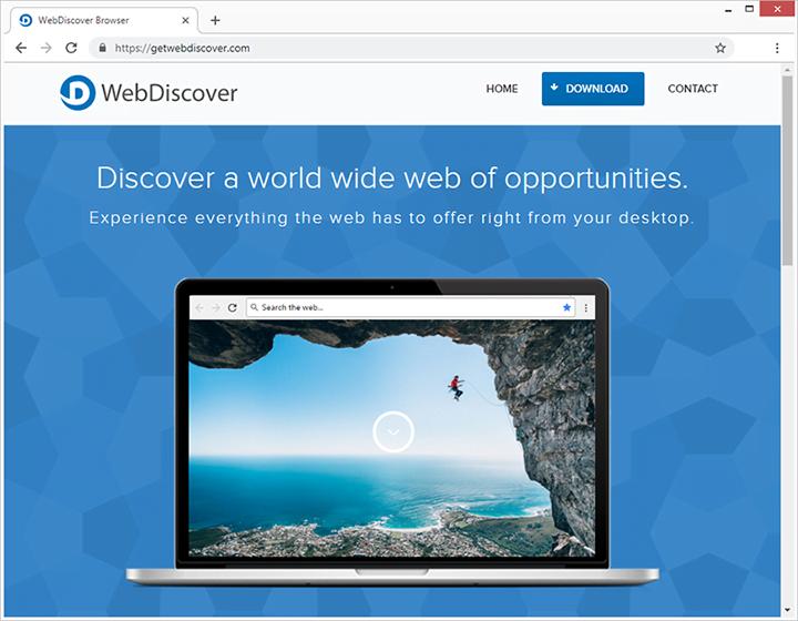 Der Herausgeber von WebDiscover Browser beschreibt die App als das Beste