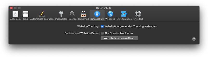 Safari Datenschutz