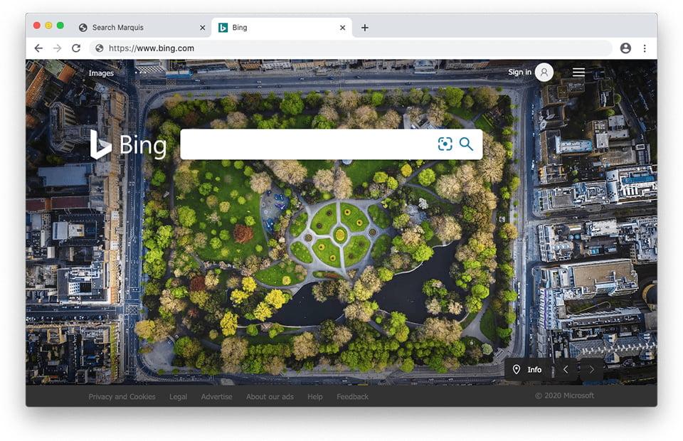 Search Marquis-Virus leitet zu Bing weiter